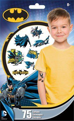 Temporary Batman Tattoos