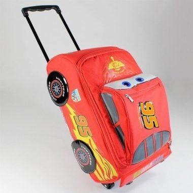 Disney Pixar Cars 2 Rolling Lightning McQueen Luggage Suitcase by Disney Interactive Studios