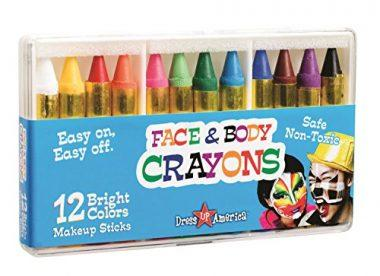 12 Color Face Paint Safe & Non-Toxic Face and Body Crayons by Dress Up America