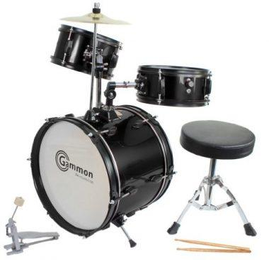 Gammon Percussion Complete Junior Kid's Drum Set with Cymbal Stool Sticks