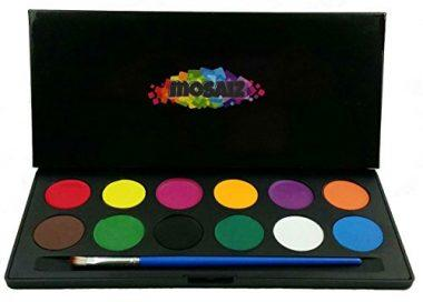 Face Paint Set Water Activated Professional Body Paint Kits by Mosaiz