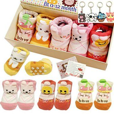 Girls Animal Cotton Socks Gift Set by Fly-Love