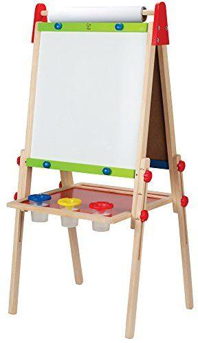 Hape All-in-One Wooden Kid's Art Easel with Paper Roll and Accessories