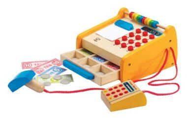 Kid's Wooden Check Out Register