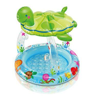 Sea Turtle Shade Inflatable Baby Pool
