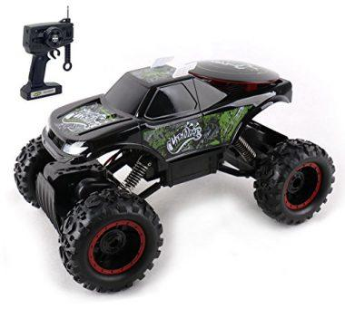 Rock Crawler Remote Control Black RC Off Road Race Car by KidiRace