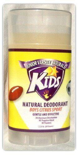 Kids Natural Deodorant for Boys – Citrus Sport