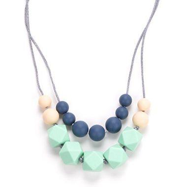 MAROTARO 'Harper' Hard + Soft + Cushy Beads All-in-1 Teething Necklace