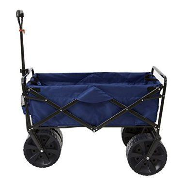 Folding All Terrain Utility Beach Wagon Cart by Mac Sports