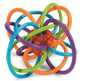 Winkle Rattle and Sensory Teether Activity Toy by Manhattan Toy