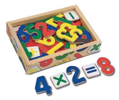 37 Wooden Number Magnets in a Box by Melissa & Doug
