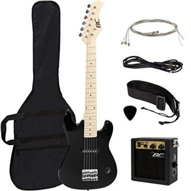 Kids Black Electric Guitar with Amp