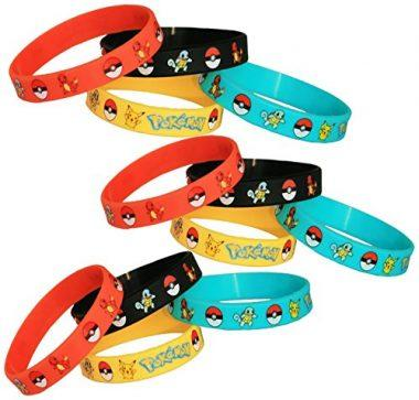 Pokemon Party Supplies Silicone Wristband Bracelet Favors by Gifts & Crafts Co.