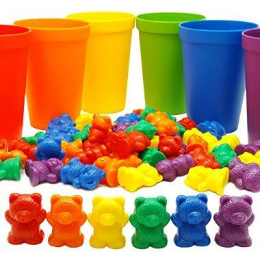Rainbow Counting Bears with Matching Sorting Cups by Skoolzy