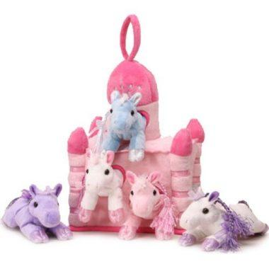 Plush Unicorn Castle with Animals by Unipak