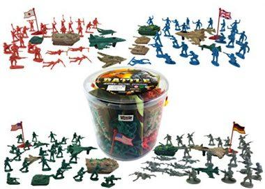 Action Figures Army Men Soldier Bucket Playset by Liberty Imports