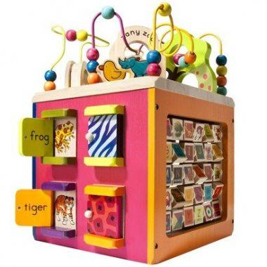 Zany Zoo Wooden Activity Cube for Children by B.