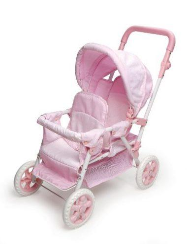 Folding Double Doll Front-to-Back Stroller by Badger Basket