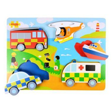 Emergency Services Puzzle by Bigjigs Toys