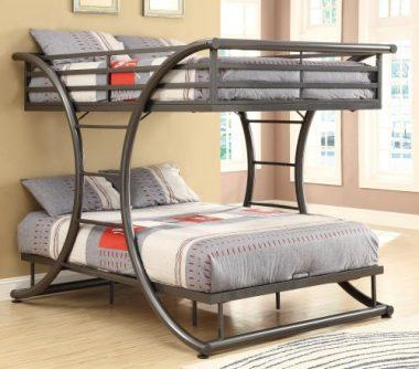 Gunmetal 460078 Bunk Bed by Coaster Home Furnishings