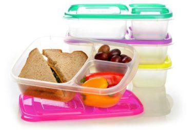 3-Compartment Bento Lunch Box Containers by EasyLunchboxes