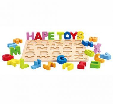 Alphabet Stand Up Kid's Wooden Learning Puzzle by Hape