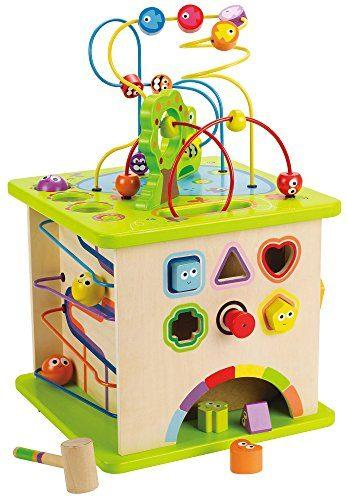 Country Critters Wooden Activity Play Cube for Toddlers by Hape