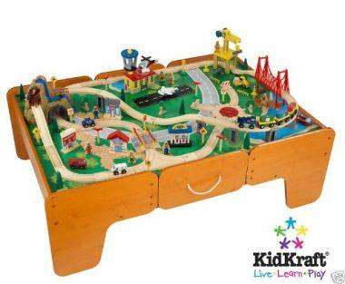 Limited Edition Waterfall Mountain Train Table and Train Set by Kidkraft