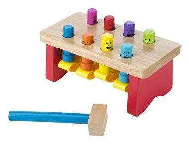 Deluxe Pounding Bench Wooden Toy With Mallet by Melissa & Doug