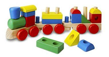 Stacking Train – Classic Wooden Toddler Toy by Melissa & Doug