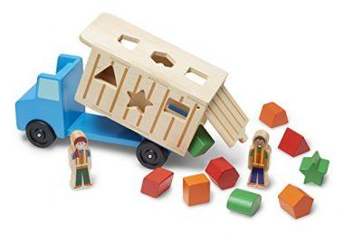 Shape-Sorting Wooden Dump Truck Toy by Melissa & Doug