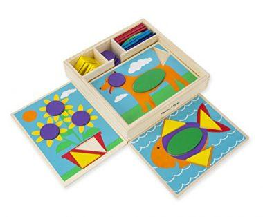 Beginner Wooden Pattern Blocks Educational Toy by Melissa & Doug