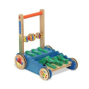 Deluxe Chomp and Clack Alligator Wooden Push Toy and Activity Walker by Melissa & Doug