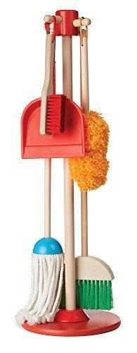 Let's Play House Dust! Sweep! Mop! 6-Piece Pretend Play Set by Melissa & Doug