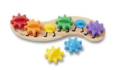 Rainbow Caterpillar Gear Toy by Melissa & Doug