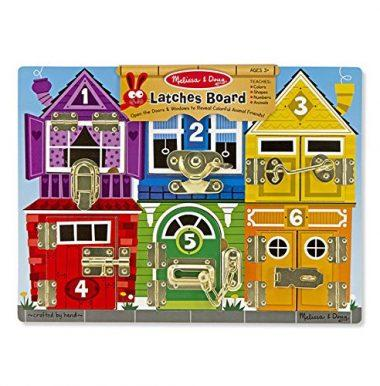 Latches Wooden Activity Board by Melissa & Doug