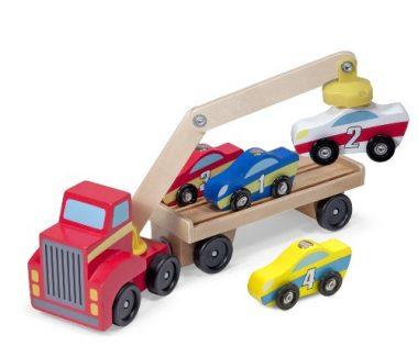Magnetic Car Loader Wooden Toy Set by Melissa & Doug