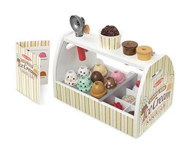 Wooden Scoop and Serve Ice Cream Counter by Melissa & Doug