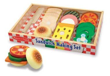 Wooden Sandwich-Making Set by Melissa & Doug