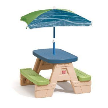 Sit and Play Picnic Table with Umbrella