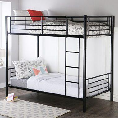 Twin over Twin Metal Bunk Bed by Walker Edison