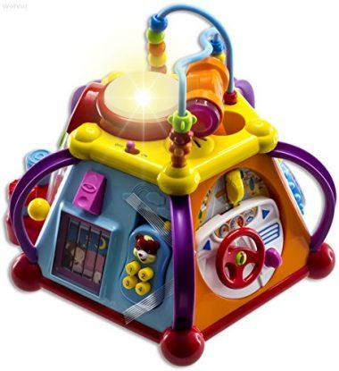 Musical Activity Cube Play Center with Lights, 15 Functions, and Skills by WolVol