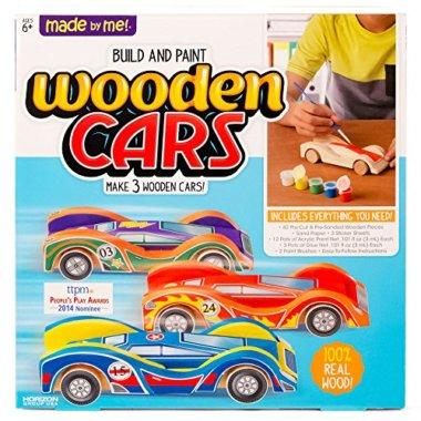 Front View of Build and Paint Wooden CARS