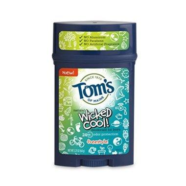 Tom's Wicked Cool Natural Deodorant 2.25oz frontal view.