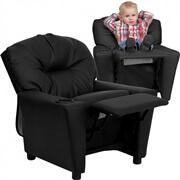 Flash Furniture Black Leather