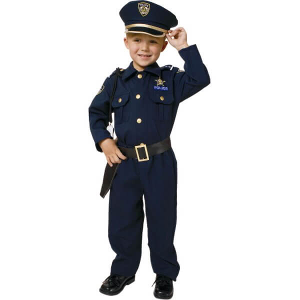 Little Boys' Deluxe Police Officer