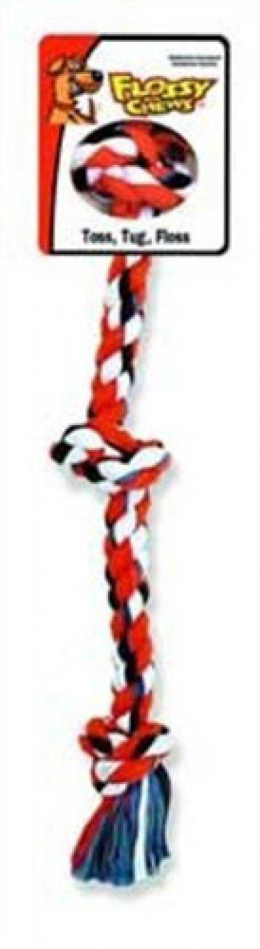 Flossy Chews 3-Knot Rope Tug, 25-Inch