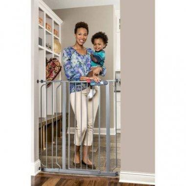 Regalo's extra tall gate, in platinum, stands at 41 inches.