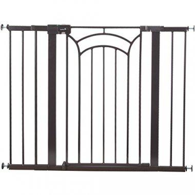 Decorative and useful gate that uses pressure mounted technology.