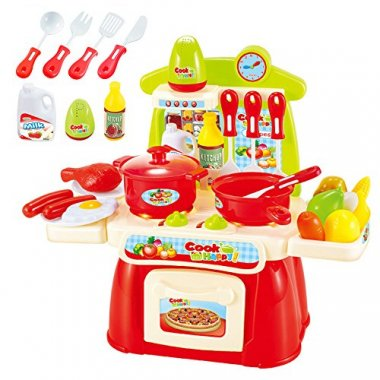 Pretend Play Kitchen Cookware for Kids By Ricdecor